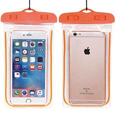 Wasserdicht Unterwasser Handy Schutzhülle Universal W01 für Nokia 3.1 Plus Orange