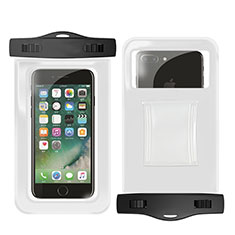 Wasserdicht Unterwasser Handy Schutzhülle Universal W02 für Oppo A15 Weiß