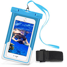 Wasserdicht Unterwasser Handy Schutzhülle Universal W03 für Oppo A15 Hellblau