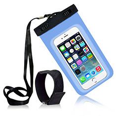 Wasserdicht Unterwasser Handy Schutzhülle Universal W04 für Nokia 3.1 Plus Hellblau