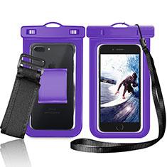Wasserdicht Unterwasser Handy Schutzhülle Universal W05 für Nokia 3.1 Plus Violett
