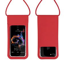 Wasserdicht Unterwasser Handy Schutzhülle Universal W06 für Nokia 3.1 Plus Rot