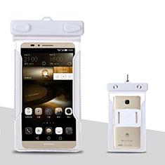 Wasserdicht Unterwasser Handy Schutzhülle Universal für Oppo A15 Weiß