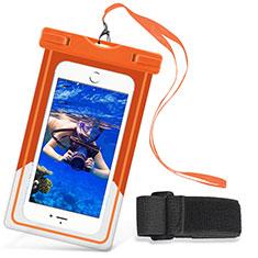 Wasserdicht Unterwasser Handy Tasche Universal W03 für Nokia 3.1 Plus Orange