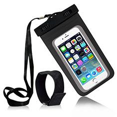 Wasserdicht Unterwasser Handy Tasche Universal W04 für Oppo A15 Schwarz