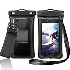 Wasserdicht Unterwasser Handy Tasche Universal W05 für Oppo A15 Schwarz