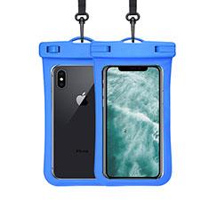Wasserdicht Unterwasser Handy Tasche Universal W07 für Oppo A15 Blau