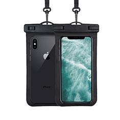 Wasserdicht Unterwasser Handy Tasche Universal W07 für Oppo A15 Schwarz