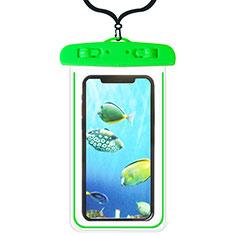Wasserdicht Unterwasser Handy Tasche Universal W08 für Oppo A15 Grün