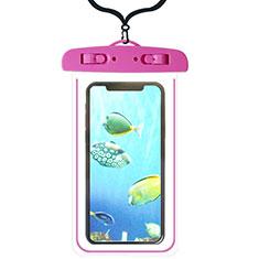 Wasserdicht Unterwasser Handy Tasche Universal W08 für Oppo A15 Pink
