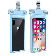 Wasserdicht Unterwasser Handy Tasche Universal W09 für Google Pixel 3 XL Blau
