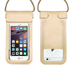 Wasserdicht Unterwasser Handy Tasche Universal W10 für Oppo A15 Gold
