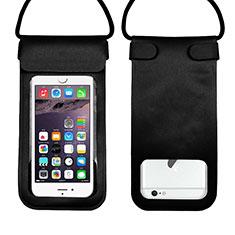 Wasserdicht Unterwasser Handy Tasche Universal W10 für Oppo A15 Schwarz