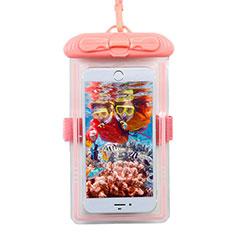 Wasserdicht Unterwasser Handy Tasche Universal W11 für Oppo A15 Rosa