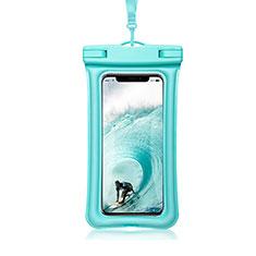 Wasserdicht Unterwasser Handy Tasche Universal W12 für Oppo A15 Cyan