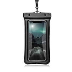 Wasserdicht Unterwasser Handy Tasche Universal W12 für Oppo A15 Schwarz