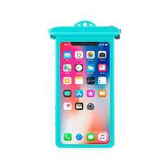Wasserdicht Unterwasser Handy Tasche Universal W14 für Oppo A15 Cyan