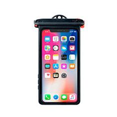 Wasserdicht Unterwasser Handy Tasche Universal W14 für Oppo A15 Schwarz
