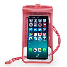 Wasserdicht Unterwasser Handy Tasche Universal W15 für Oppo A15 Rot