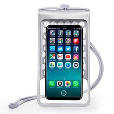 Wasserdicht Unterwasser Handy Tasche Universal W15 für Oppo A15 Silber