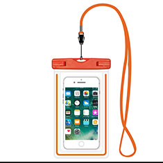Wasserdicht Unterwasser Handy Tasche Universal W16 für Apple iPhone 11 Orange