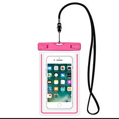 Wasserdicht Unterwasser Handy Tasche Universal W16 für Oppo A15 Rosa