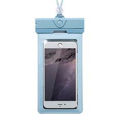 Wasserdicht Unterwasser Handy Tasche Universal W17 für Oppo A15 Blau