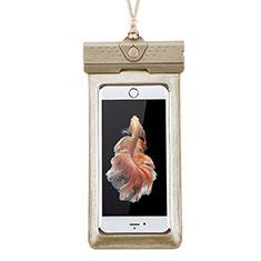 Wasserdicht Unterwasser Handy Tasche Universal W17 für Oppo A15 Gold