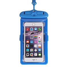 Wasserdicht Unterwasser Handy Tasche Universal W18 für Oppo A15 Blau