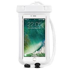 Wasserdicht Unterwasser Handy Tasche Universal für Oppo A15 Weiß