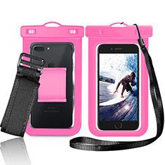 Wasserdicht Unterwasser Schutzhülle Tasche Universal W05 für Nokia 3.1 Plus Rosa