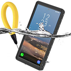 Wasserdicht Unterwasser Silikon Hülle Handyhülle und Kunststoff Waterproof Schutzhülle 360 Grad Ganzkörper Tasche für Samsung Galaxy Note 10 5G Schwarz