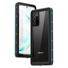 Wasserdicht Unterwasser Silikon Hülle Handyhülle und Kunststoff Waterproof Schutzhülle 360 Grad Ganzkörper Tasche für Samsung Galaxy Note 20 5G Cyan