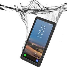 Wasserdicht Unterwasser Silikon Hülle Handyhülle und Kunststoff Waterproof Schutzhülle 360 Grad Ganzkörper Tasche W01 für Samsung Galaxy Note 10 5G Schwarz