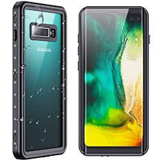 Wasserdicht Unterwasser Silikon Hülle Handyhülle und Kunststoff Waterproof Schutzhülle 360 Grad Ganzkörper Tasche W01 für Samsung Galaxy S10 Plus Schwarz