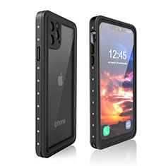 Wasserdicht Unterwasser Silikon Hülle Handyhülle und Kunststoff Waterproof Schutzhülle 360 Grad Tasche für Apple iPhone 11 Pro Max Schwarz