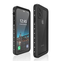 Wasserdicht Unterwasser Silikon Hülle Handyhülle und Kunststoff Waterproof Schutzhülle 360 Grad Tasche für Apple iPhone 11 Schwarz