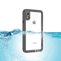 Wasserdicht Unterwasser Silikon Hülle Handyhülle und Kunststoff Waterproof Schutzhülle 360 Grad Tasche für Apple iPhone XR Schwarz