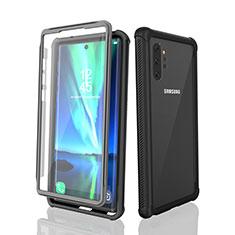 Wasserdicht Unterwasser Silikon Hülle Handyhülle und Kunststoff Waterproof Schutzhülle 360 Grad Tasche für Samsung Galaxy Note 10 Plus Schwarz
