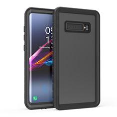 Wasserdicht Unterwasser Silikon Hülle Handyhülle und Kunststoff Waterproof Schutzhülle 360 Grad Tasche für Samsung Galaxy S10 Schwarz