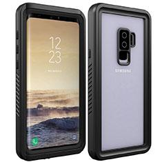 Wasserdicht Unterwasser Silikon Hülle Handyhülle und Kunststoff Waterproof Schutzhülle 360 Grad Tasche für Samsung Galaxy S9 Plus Schwarz