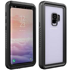 Wasserdicht Unterwasser Silikon Hülle Handyhülle und Kunststoff Waterproof Schutzhülle 360 Grad Tasche für Samsung Galaxy S9 Schwarz