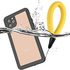 Wasserdicht Unterwasser Silikon Hülle Handyhülle und Kunststoff Waterproof Schutzhülle 360 Grad Tasche U01 für Apple iPhone 11 Pro Schwarz