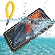 Wasserdicht Unterwasser Silikon Hülle Handyhülle und Kunststoff Waterproof Schutzhülle 360 Grad Tasche U01 für Apple iPhone 11 Schwarz