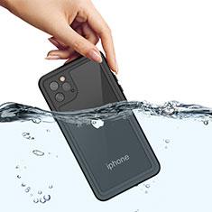 Wasserdicht Unterwasser Silikon Hülle Handyhülle und Kunststoff Waterproof Schutzhülle 360 Grad Tasche W01 für Apple iPhone 11 Pro Max Schwarz