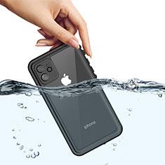 Wasserdicht Unterwasser Silikon Hülle Handyhülle und Kunststoff Waterproof Schutzhülle 360 Grad Tasche W01 für Apple iPhone 11 Schwarz