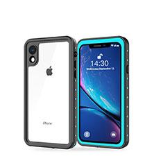 Wasserdicht Unterwasser Silikon Hülle Handyhülle und Kunststoff Waterproof Schutzhülle 360 Grad Tasche W01 für Apple iPhone XR Cyan