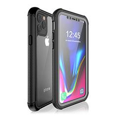 Wasserdicht Unterwasser Silikon Hülle Handyhülle und Kunststoff Waterproof Schutzhülle 360 Grad Tasche W02 für Apple iPhone 11 Pro Max Schwarz
