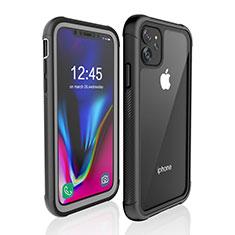 Wasserdicht Unterwasser Silikon Hülle Handyhülle und Kunststoff Waterproof Schutzhülle 360 Grad Tasche W02 für Apple iPhone 11 Schwarz