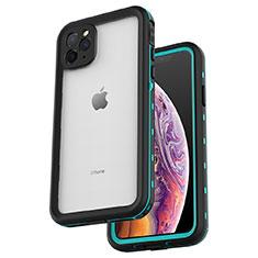 Wasserdicht Unterwasser Silikon Hülle Handyhülle und Kunststoff Waterproof Schutzhülle 360 Grad Tasche W04 für Apple iPhone 11 Pro Max Cyan